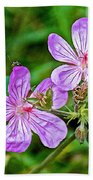 Wild Geranium On Trail To Swan Lake In Grand Teton National Park-wyoming Bath Towel