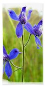 Wild Larkspurs Bath Towel