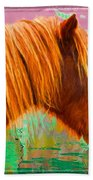 Wild Pony Abstract Bath Towel