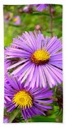 Wild Purple Asters Bath Towel