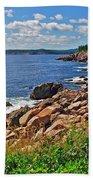 Wild Roses At Lakies Head In Cape Breton Highlands Np-ns Bath Towel