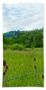 Wild Teasel In Nez Perce National Historical Park-id- Bath Towel