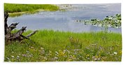 Wildflowers By Heron Pond In Grand Teton National Park-wyoming Hand Towel