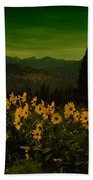 Wildflowers In The Beartooth Mountains Bath Towel