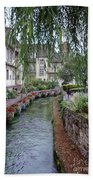 Willows Over The River Bath Towel