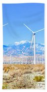 Wind Farm Palm Springs Bath Towel