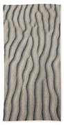 Wind Makes Patterns On The Beach Bath Towel
