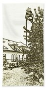 Wind Point Lighthouse Drawing Mode 2 Bath Towel