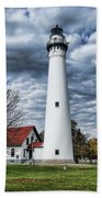 Wind Point Lighthouse Bath Towel