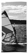 Wind Surfer II Bw Bath Towel