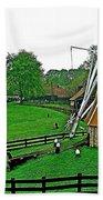 Windmill In A Park In Enkhuizen-netherlands Bath Towel