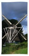 Windmill In Dutch Countryside Hand Towel