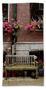 Window Box Bicycle And Bench  -- Amsterdam Bath Towel