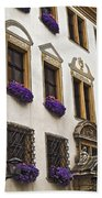 Window Boxes In Germany Bath Towel