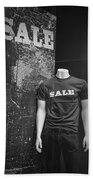 Window Display Sale In Black And White Photograph With Mannequin No.0129 Bath Towel