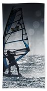 Windsurfing With Water Drops On Camera Bath Towel