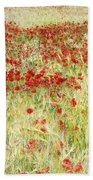 Windy Poppies At The Fields Bath Towel
