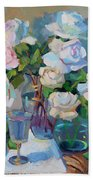 Wine And Roses Bath Towel
