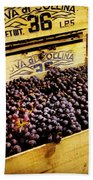 Wine Grapes II Bath Towel