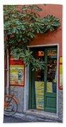 Wine Shop Monterosso Italy Dsc02584  Bath Towel
