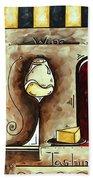 Wine Tasting Original Madart Painting Bath Towel