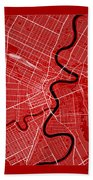 Winnipeg Street Map - Winnipeg Canada Road Map Art On Color Bath Towel