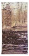 Winter At Wolf Pen Mill Bath Towel