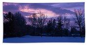 Winter Evening In Grants Pass Bath Towel