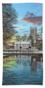 Winter Evening Tickhill Yorkshire Bath Towel
