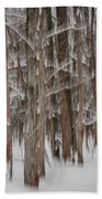 Winter Forest Abstract II Bath Towel