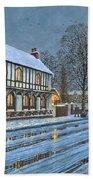 Winter Glow Parish Room Tickhill Yorkshire Bath Towel