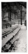 Winter In Central Park Bath Towel