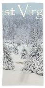 Winter In West Virginia Bath Towel