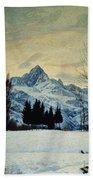 Winter Landscape Bath Towel