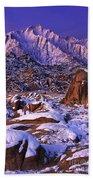Winter Morning Alabama Hills And Eastern Sierras Bath Towel