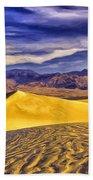 Winter Morning At Death Valley Bath Towel