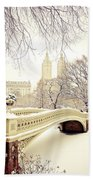 Winter - New York City - Central Park Bath Towel