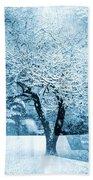 Winter Orchard Bath Towel