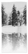 Winter Pines Bath Towel