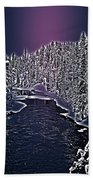 Winter River Oulanka National Park Lapland Finland  Bath Towel