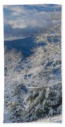 Winter Scene At Berry Summit Bath Towel