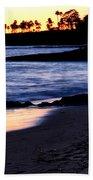 Winter Sunset In Laguna Beach II Bath Towel