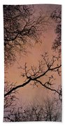 Winter Tree Canopy Bath Towel