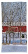 Winter Tree Line Bath Towel