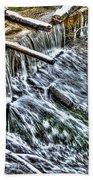 Winter Waterfall 2 Bath Towel