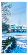 Winters Day Photo Art From The Fence Bath Towel