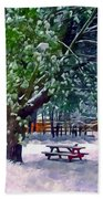 Wintry  Snowy Trees Bath Towel