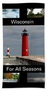 Wisconsin For All Seasons Bath Towel