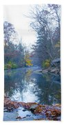 Wissahickon Creek - Fall In Philadelphia Bath Towel