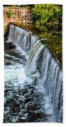 Wissahickon Dam At Ridge Avenue - Side View Bath Towel